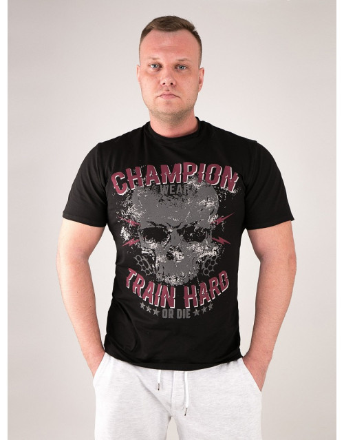 "Футболка : Classic T-Shirt Black ""Champion"""