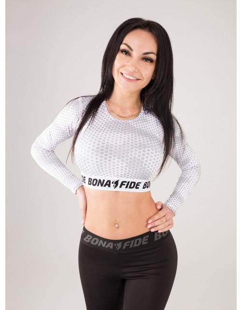 "Укороченный рашгард Bona Fide: Rashguard Mini Brand Pro ""White Grid"""