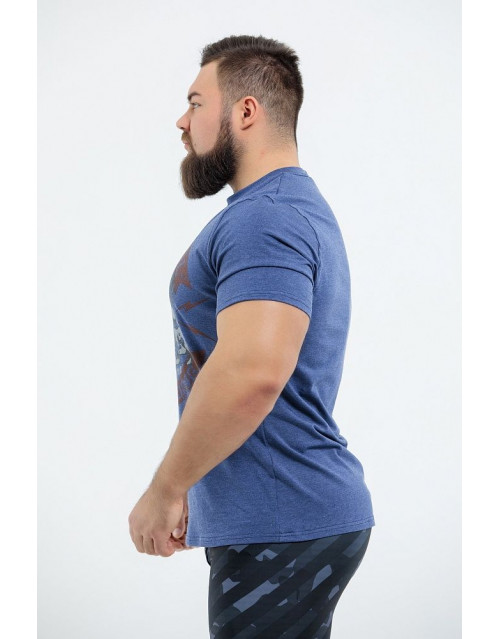 "Футболка DICH: Classic T-Shirt Blue Melanje ""Arnold Old School"""