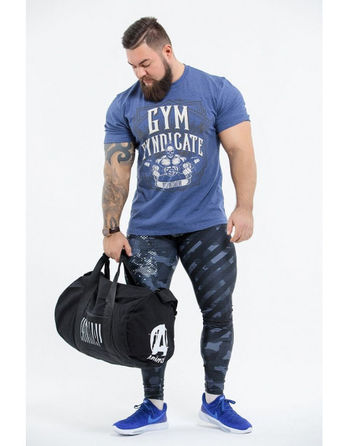 "Футболка DICH: Classic T-Shirt Blue Melanje ""Gym Syndicate"""