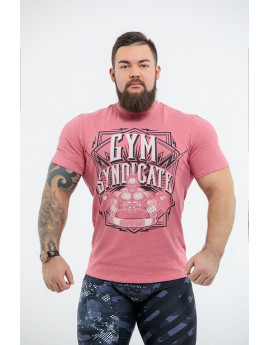 "Футболка DICH: Classic T-Shirt Cayenne Red Melanje""Gym Syndicate"""