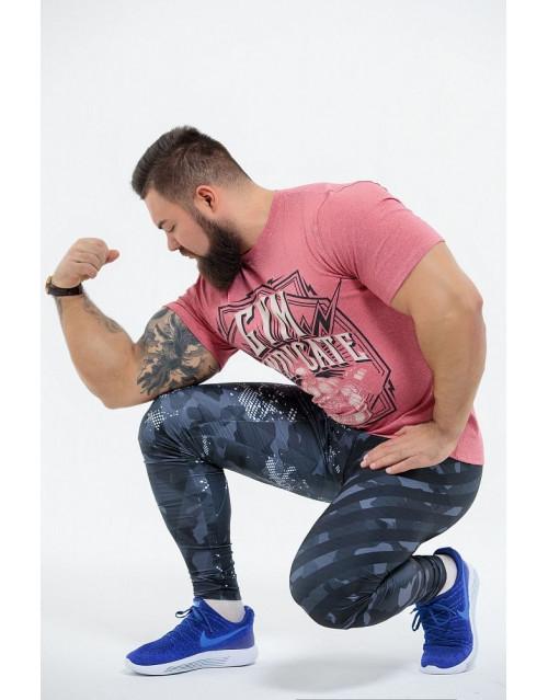 "Футболка DICH: Classic T-Shirt Cayenne Red Melanje""Gym Syndicate"""