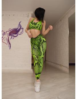 """Лосины Bona Fide: Bona Classic Cobra """"Neon Green"""""""