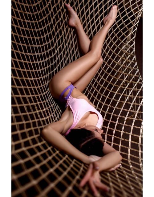 "Слитный купальник Bona Fide: BonaBombita ""Dark Lavender & Pale Pink"""